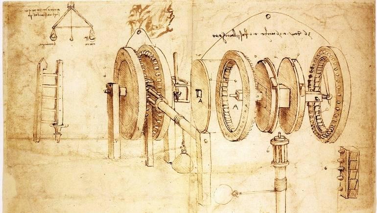 Леонардо да Винчи придумал первые идеи бесступенчатой трансмиссии.