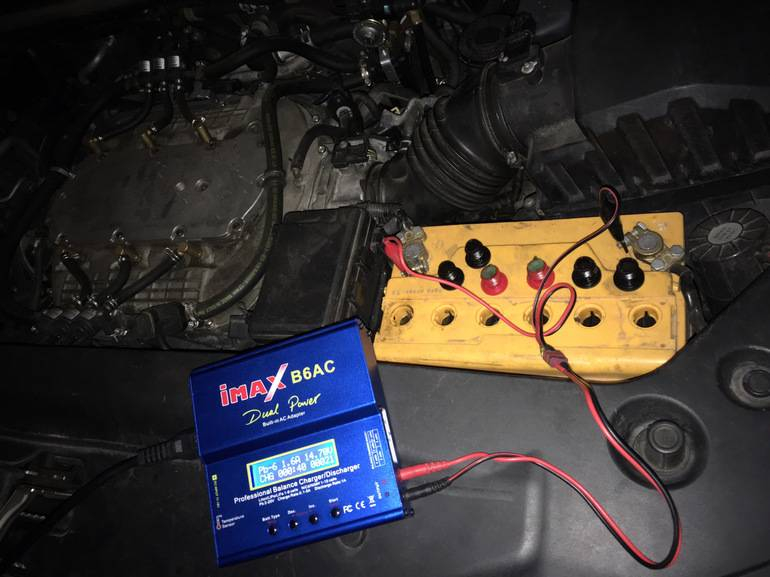 Зарядка на автомобиле