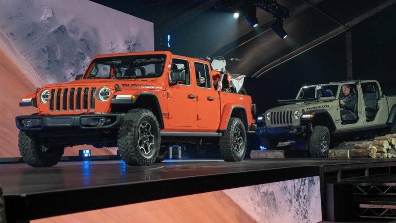 Jeep Gladiator Rubicon 2020 года.