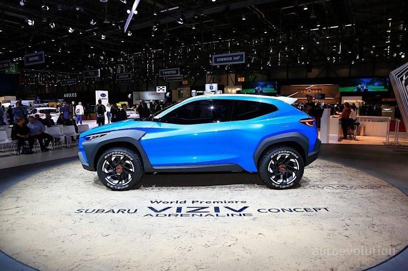 Subaru Viziv Adrenaline запоминается прежде всего своей четкостью линий корпуса.