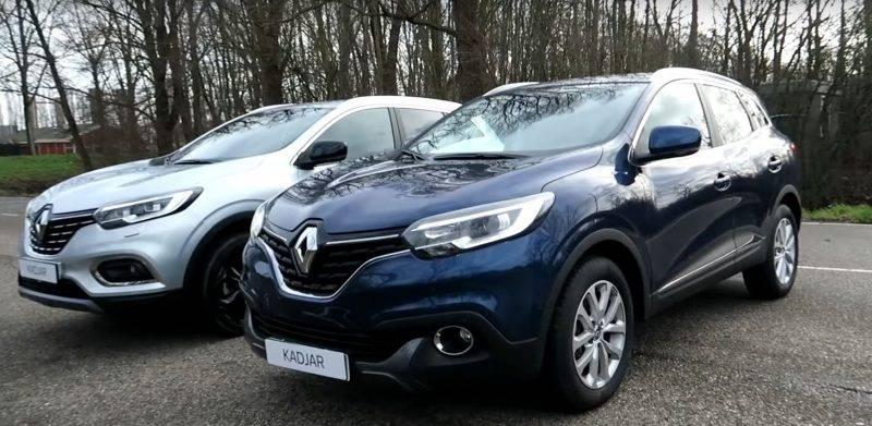 Новый и старый Renault Kadjar.