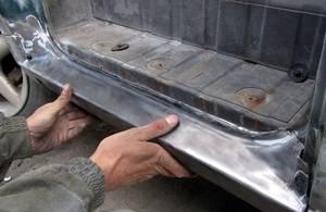 Ремонт съемных порогов на автомобиле своими руками