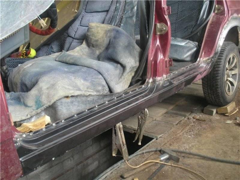 Ремонт сварных порогов на авто своими руками