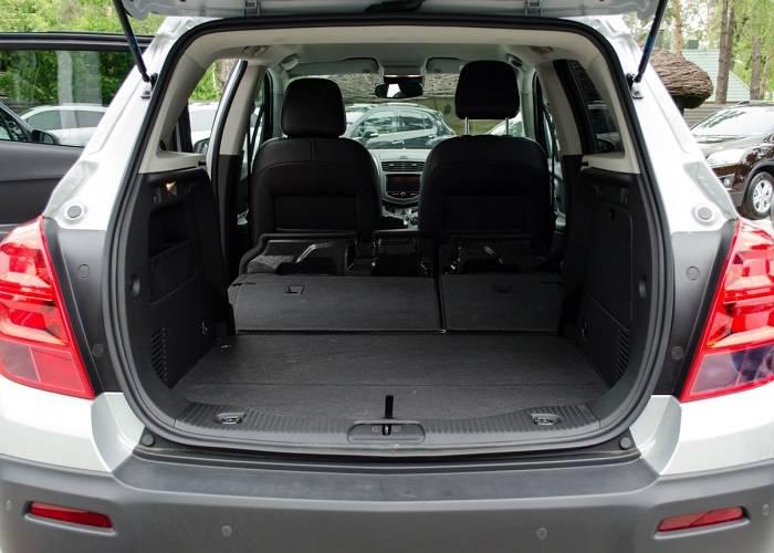 Багажник Chevrolet Tracker очень просторный