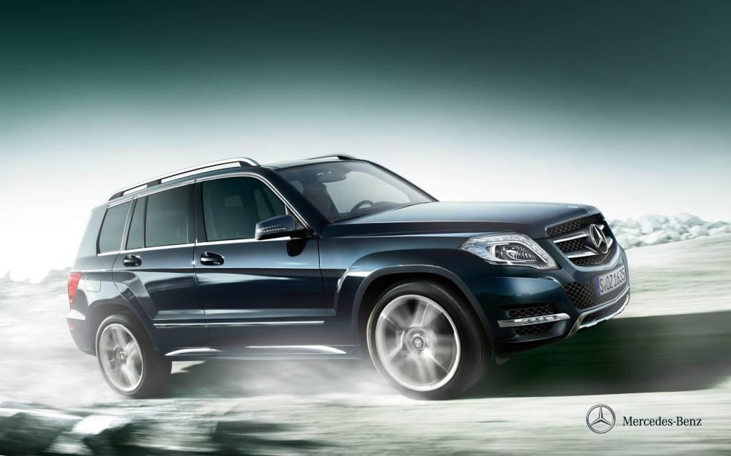 Mercedes GLK отлично держится на бездорожье