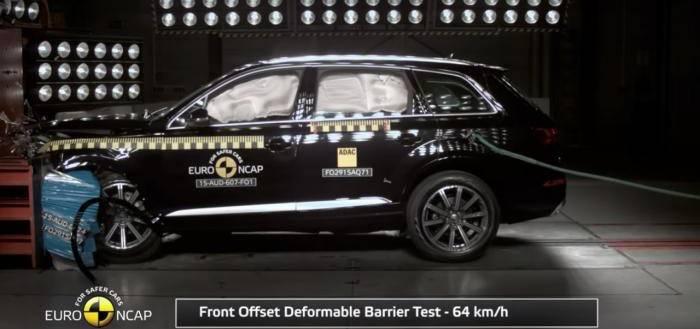 Видео краш-теста Volvo XC90, Audi Q7