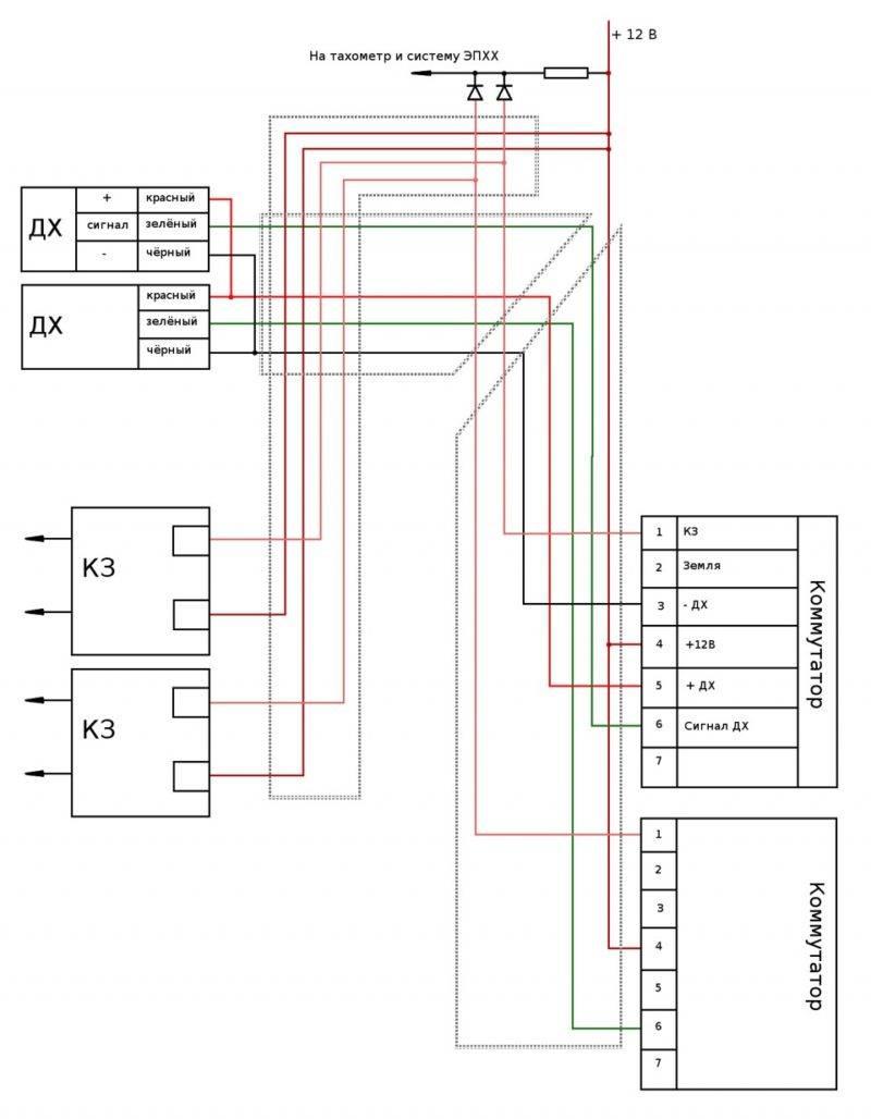 Для большей наглядности можете воспользоваться этой схемой двухконтурного зажигания.