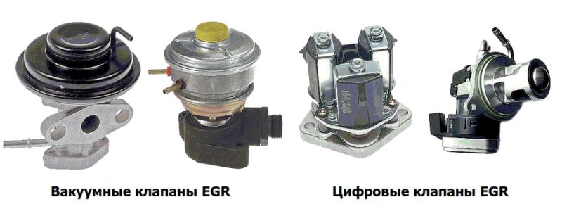Так выглядят основные типы клапанов EGR.