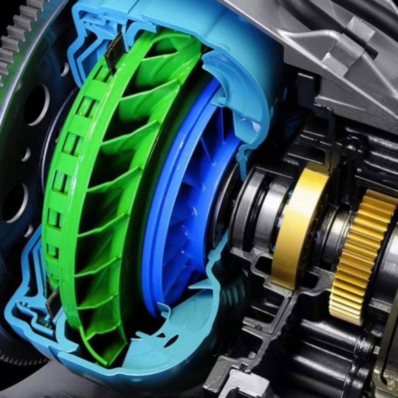 Гидротрансформаторная коробка включает в себя три составляющие: механическую, гидравлическую и электронную.
