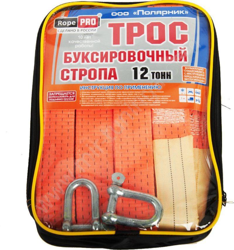 Информация о том, какие нагрузки выдерживает трос, указана на упаковке.
