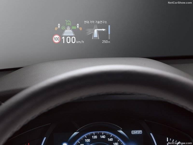 Здесь отражается информация о скорости, состояние круиз-контроля, навигация, оповещения безопасности, ограничения скорости, данные мультимедиа.