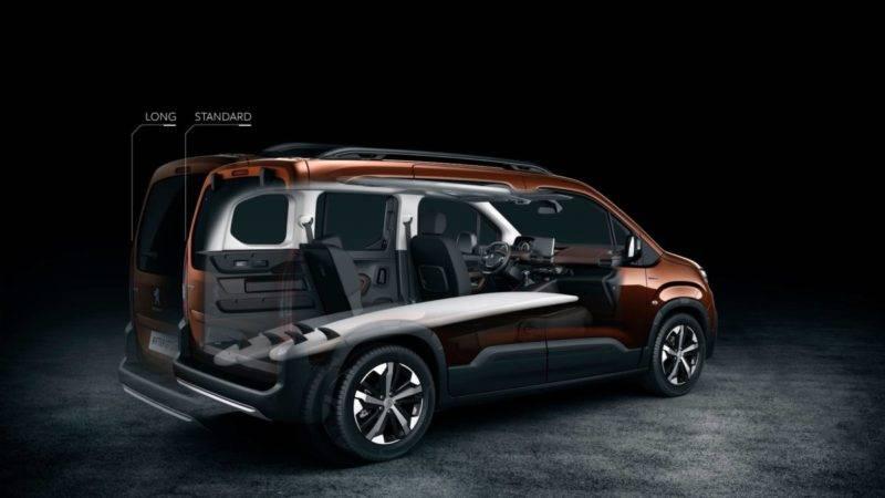 В Peugeot Rifter используется модульная система расположения сидений в салоне.
