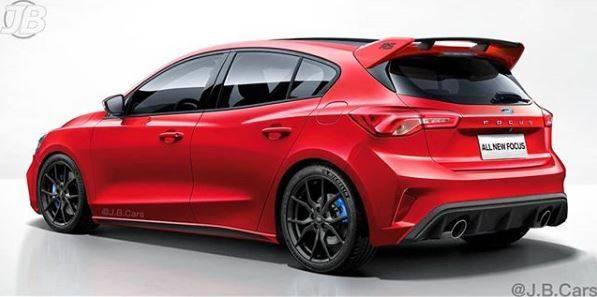 На новых рендерах Ford Focus RS выглядит настоящим атлетом.