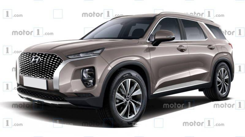 Примерно так будет выглядеть Hyundai Palisade.