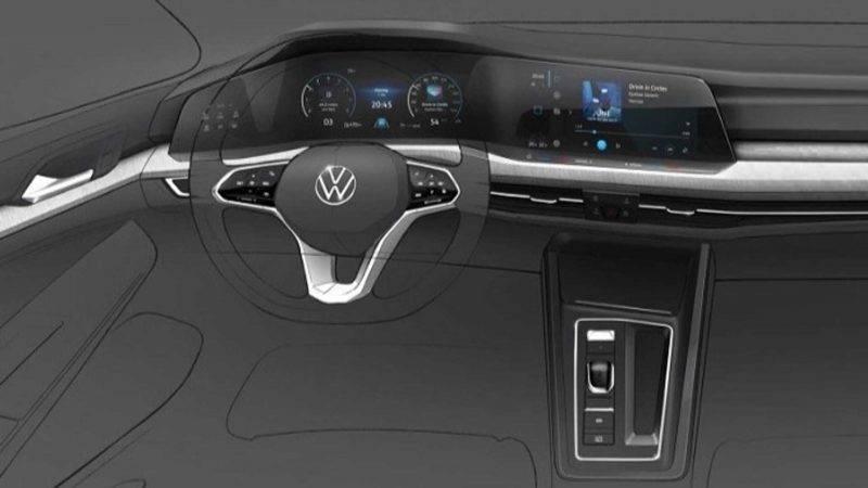 Вот таким было тизерное изображение VW Golf нового поколения.